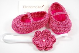 """Baby Mary Janes """"Red Rose"""""""