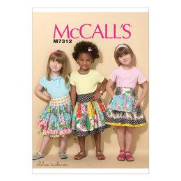 McCall's Children's/Girls' Ruffled Colorblock and Patchwork Skirts M7312 - Sewing Pattern