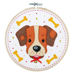 Vervaco Felt Craft Kit with Frame: Dog - 16cm