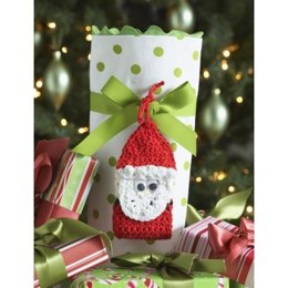 Santa Gift Tag in Lily Sugar 'n Cream Solids