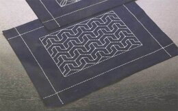 Olympus Thread Sashiko Placemat Turtle Embroidery Kit