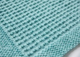 Textured Knit Baby Blanket