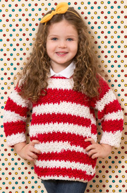 Game Day Crochet Sweater in Red Heart Team Spirit - LW3753 - Downloadable PDF