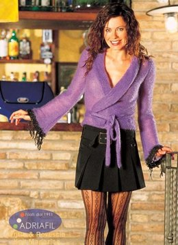 Criss-Cross Barbara Top in Adriafil Kid Mohair and Frou Frou