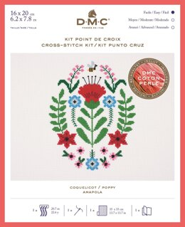 DMC Poppy (Coton Perlé) Cross Stitch Kit