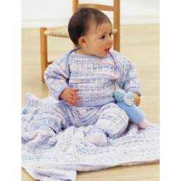 Soft Shades Layette Sweater, Pant and Booties in Patons Astra