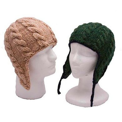 Adult Cable Ear Flap Hats