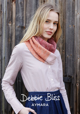 """Chloe Cowl"" - Cowl Knitting Pattern For Women in Debbie Bliss Aymara - DB210"