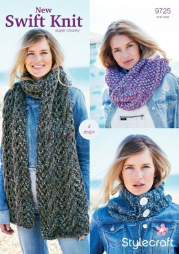 Accessories in Stylecraft New Swift Knit Super Chunky - 9725 - Downloadable PDF