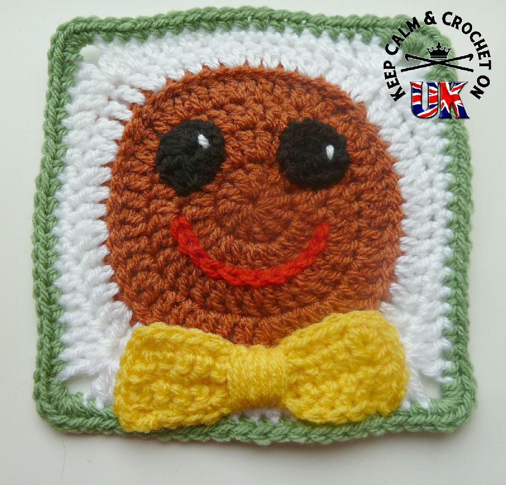 Gingerbread Blanket Knitting Pattern : Gingerbread Man Afghan Square Crochet pattern by Keep Calm and Crochet On UK ...