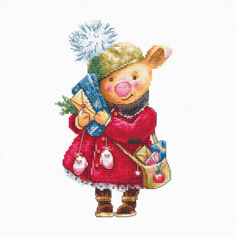 Luca-S Traditional Pig Cross Stitch Kit