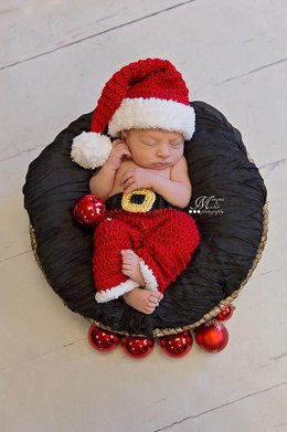 Newborn Santa Claus Hat and Pants
