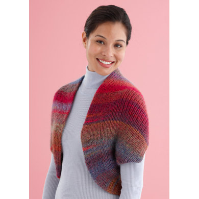 Knitting Pattern Cowl Shrug : Snapped Convertible Cowl/Shrug in Lion Brand Amazing - L20315