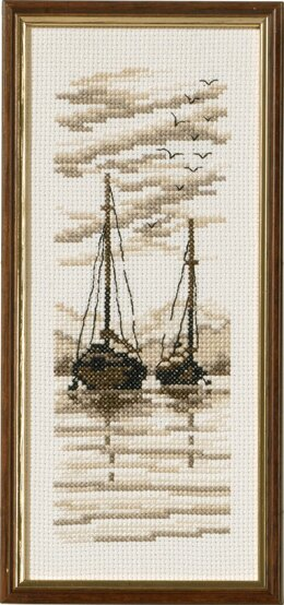 Permin Ships Cross Stitch Kit - 9cm x 22cm
