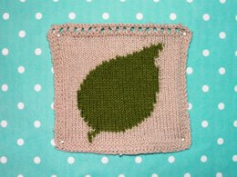 Silver Birch Leaf Intarsia Square