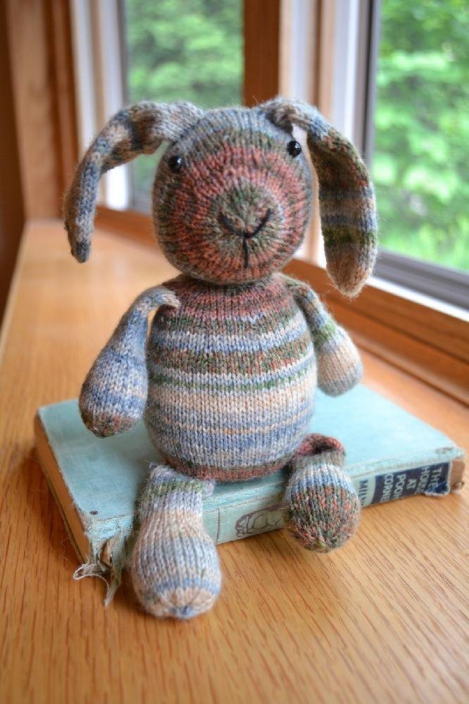 Opal Sock Yarn Bunny Knitting Pattern By Susan B Anderson