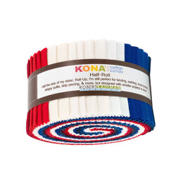 Robert Kaufman Kona Cotton Solids 2.5in Strip Roll - HR-151-24