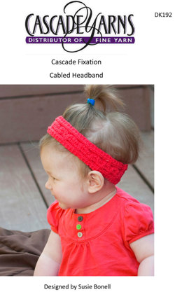 Cabled Headband in Cascade Fixation - DK192