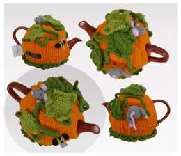 Pumpkin Field Mouse Tea Cosy