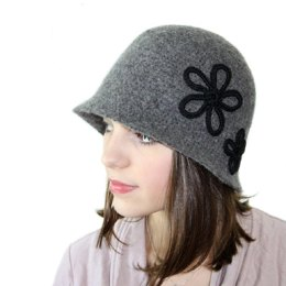Vintage Inspired Felted Cloche