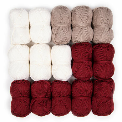 Debbie Bliss Baby Cashmerino Bhooked Small Poncho 15 Ball Colour Pack