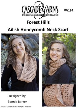 Ailish Honeycomb Neck Scarf in Cascade Forest Hill - FW194