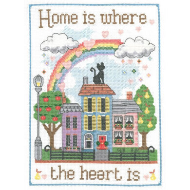 Creative World Of Crafts Home is Where the Heart Is Cross Stitch Kit