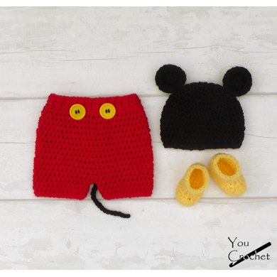 Mickey Mouse Hat And Shorts Set Crochet Pattern By You Crochet