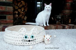 Cool for Cats Crochet Cat Basket