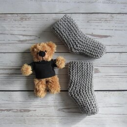 Gray Baby Socks