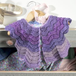 Vintage Baby Cardigan in Premier Yarns DK Colours - Downloadable PDF