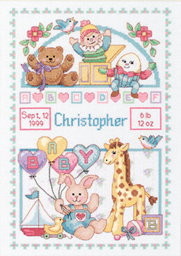 Dimensions Birth Record For Baby Cross Stitch Kit - 14 x 10 inches