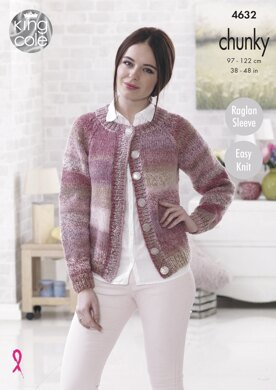 Mans Sweater and Lady's Cardigan in King Cole Cotswold Chunky - 4632 - Downloadable PDF