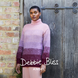 """ Rowena "" - Jumper Knitting Pattern For Women in Debbie Bliss Angel by Debbie Bliss"