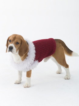 Celebrator Dog Sweater in Lion Brand Wool Ease Thick & Quick - L30257