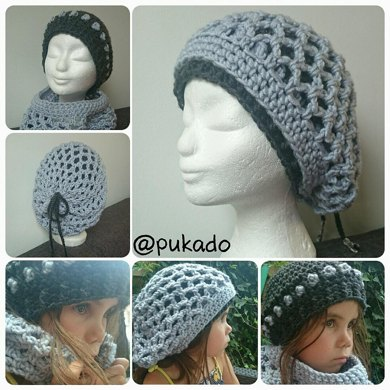 Double the Fun - Beanie and Slouch by Pukado