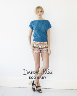 Lace Knot Top in Debbie Bliss Eco Baby - Downloadable PDF