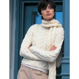 Easy Street Pullover and Scarf in Patons Shetland Chunky