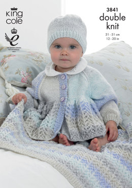 Jacket, Hat and Blanket in King Cole Melody DK - 3841