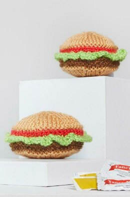 Yummy Knit Hamburgers in Red Heart Amigurumi - LM6294 - Downloadable PDF