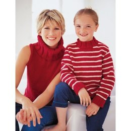 Nautical Options Sweaters in Patons Canadiana
