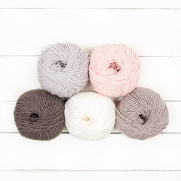 MillaMia Naturally Soft Aran 5 Ball Color Pack Designer Picks