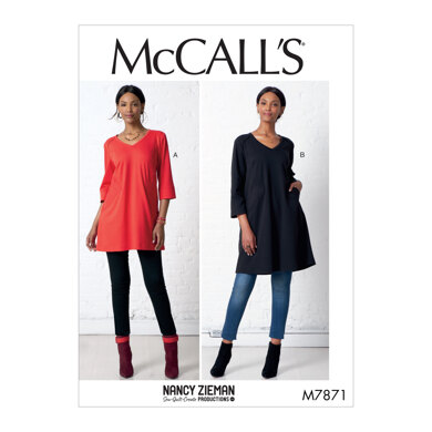McCall's Misses' Tunic and Dress M7871 - Sewing Pattern