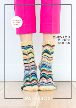 Chevron Block Socks in Paintbox Yarns Socks - Downloadable PDF