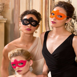 Go Incognito Masks in Aunt Lydia's Classic Crochet Thread Size 10 Solids - LC3784