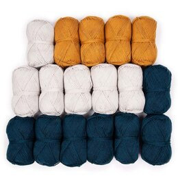 Debbie Bliss Baby Cashmerino Bhooked Large Poncho 17 Ball Color Pack