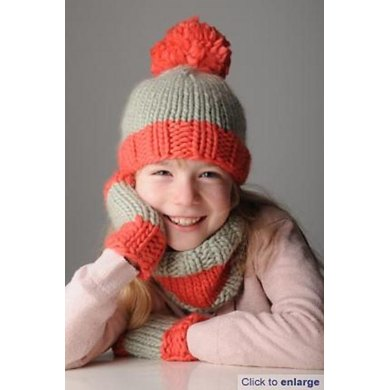 Tillys Hat Snood And Mitts Set Knitting Pattern By Mrs Moon