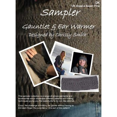 Sampler Gauntlet & Ear Warmer in UK Alpaca Super Fine DK (Downloadable PDF)
