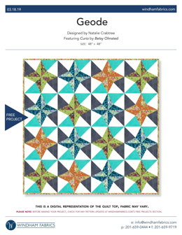 Windham Fabrics Geode - Downloadable PDF