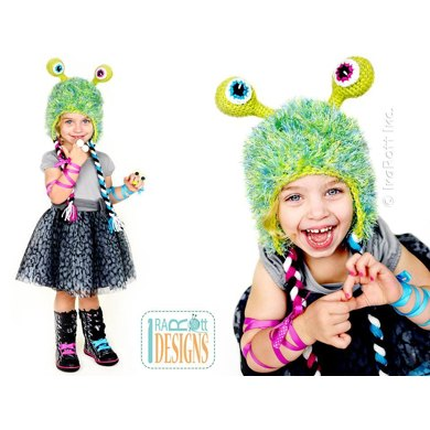 Sonic Eye Alien Monster Hat Crochet Pdf Pattern Crochet Pattern By